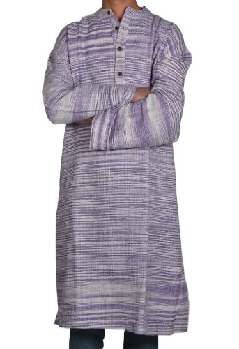 Designed Mens Casual Cotton Long Kurta Fabric For Winter & Summers Size 3XL