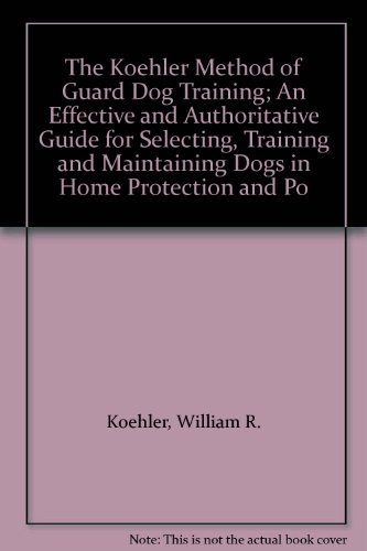 Koehler Method Of Dog Training Ebook