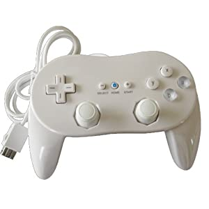 New Classic Pro Controller For Nintendo Wii/WiiU White