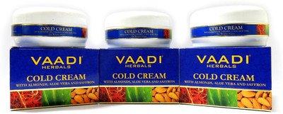 VAADI Value Pack Of Cold Cream With Almond Oil, Aloe Vera & Saffron