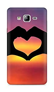 Amez designer printed 3d premium high quality back case cover for Samsung Galaxy ON7 (Heart with hands)