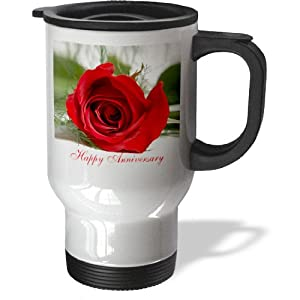 3dRose Happy Anniversary Travel Mug, 14-Ounce