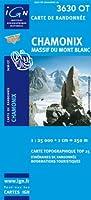 Top25 3630OT ~ Chamonix, Mont-Blanc carte de randonnée avec une règle graduée gratuite