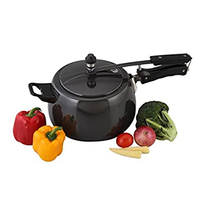 A-Star 5.5 LTR PRESSURE COOKER,-Hard-Anodized Aluminum