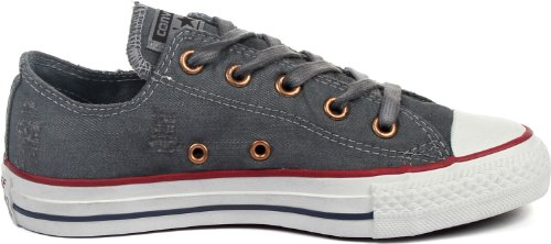 pictures of Converse - Chuck Taylor All Star Denim Low Shoes, Size: 3 D(M) US Mens / 5 B(M) US Womens, Color: Puritan Gray