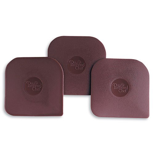 Pampered Chef Nylon Pan Scrapers Set of 3 in Brown (Tupperware Pots And Pans compare prices)