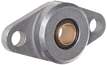 "Spyraflo HF2-500-B Self-Aligning, SAE-840 Oil Impregnated Bronze Bearing With Aluminum 2-Bolt Hole, 1/2"" Inner-Diameter Housing-Flange"
