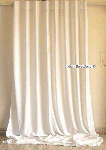 White Velvet Curtains / Drapes / Panels Rod Pocket - made to measure Curtain Length: 84 Inches