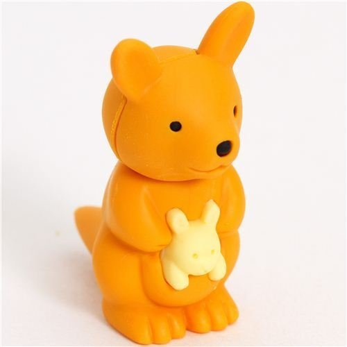 orange kangaroo eraser by Iwako from Japan - 1