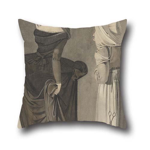 Pittura a olio John Brown-A Roman Lady con un Duenna federe 40,6x 40,6cm/40da 40cm Regalo o decorazione per sala di studio, Panca, Gril amico, Seggiolino auto, GF, Panca da entrambi i lati
