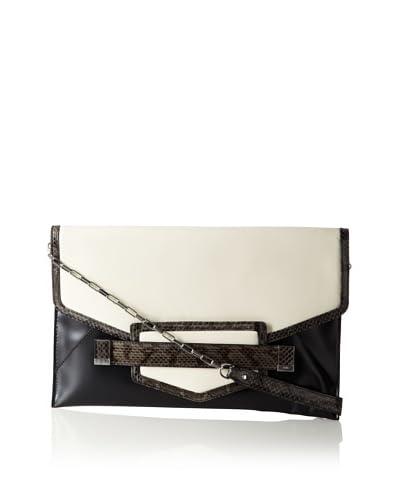 Rafé Women's Sarina Oversize Envelope Clutch, White/Black, One Size