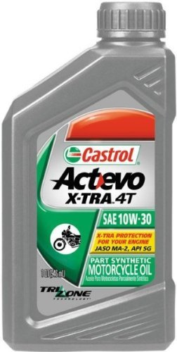 Castrol Actevo X-Tra 4T Synthetic Blend - 10W30 - 1qt. 6400 (Castrol 10w30 Synthetic Motor Oil compare prices)