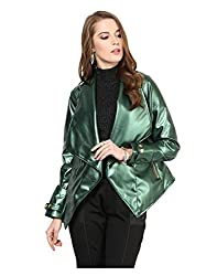 Yepme Women's Green Faux Leather Jackets - YPMJACKT5200_XS