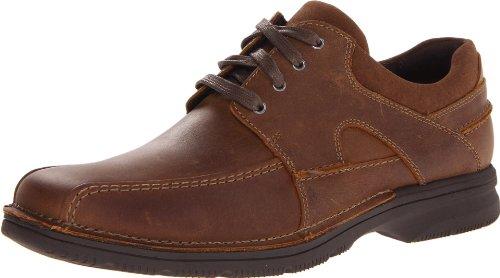 再降价:Clarks 其乐 Senner Blvd 男款真皮休闲鞋 棕色 $47.50(约¥380)