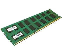 Crucial 4GB Kit (2GBx2) DDR3 1333 MT/s (PC3-10600) CL9 Unbuffered UDIMM 240-Pin Desktop Memory Modules CT2KIT25664BA1339