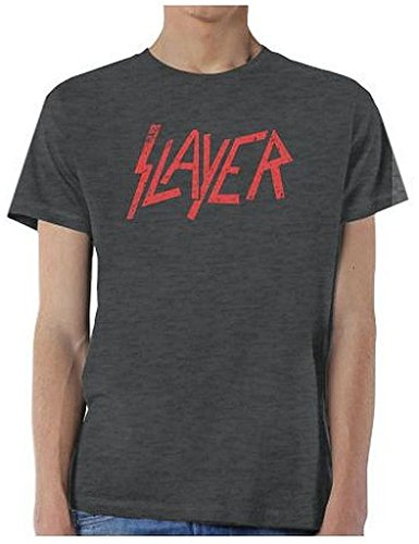 Slayer Classic Distressed Vintage Logo T-Shirt
