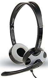 Amkette TruChat Technic With Flexible Mic Design & Volume Controller (Black)