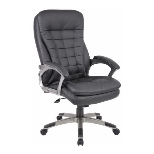 Order Now Tufted Black Vinyl Executive Chair
