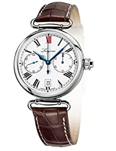 Longines Heritage White Dial Brown Leather Mens Watch L27764213