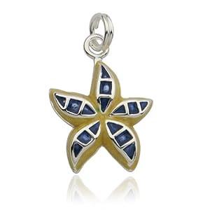 Sterling Silver Epoxy Starfish Charm