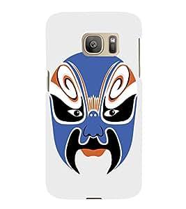 EPICCASE Beijing Opera Blue Mask Mobile Back Case Cover For Samsung Galaxy S7 Edge (Designer Case)