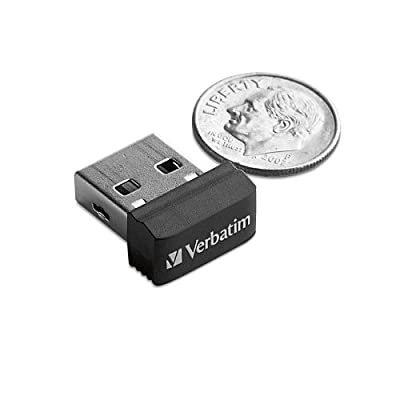 Verbatim 4 GB Store 'n' Stay USB 2.0 Flash Drive, Black 97462