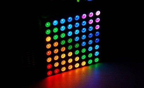 Riorand(Tm) Led Matrix 8X8 - Triple Color Rgb Common Anode Display -5Mm Dia