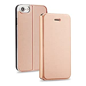 Valkit iPhone 7 Plus Case, iPhone 7 Plus Cover, Premium Lightweight Apple iPhone 7 Plus 5.5 Inch PU Flip Leather Folio Wallet Stand Cases and Covers with Slim and Card Slot Holder, Rose gold