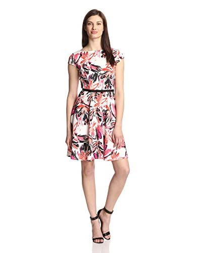 Gabby Skye Women's Printed Dress with Belt