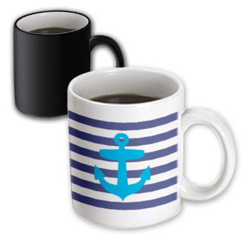 Mug_57480_3 Inspirationzstore Nautical Designs - Retro Nautical Blue Anchor With Navy Blue Sailor Stripe Pattern - French Breton Stripes - Mugs - 11Oz Magic Transforming Mug front-398254