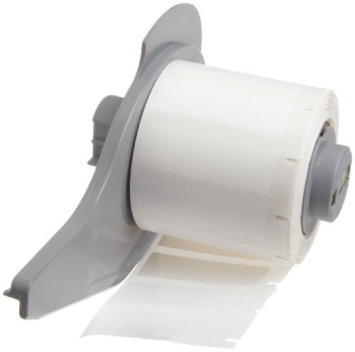 "Brady M71-29-423 BradyBondz 1.5"" Width x 0.5"" Height White Color B-423 Permanent Polyester Labels With Gloss Finish For BMP71 Label Printer (500 Per Roll)"