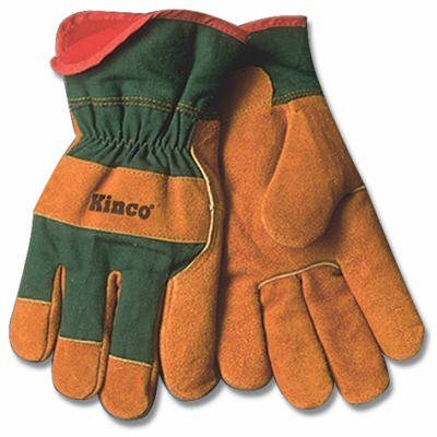 Kinco International 1721GR L Large Men's Suede Cowhide Leather Palm Gloves - Quantity 12 picture