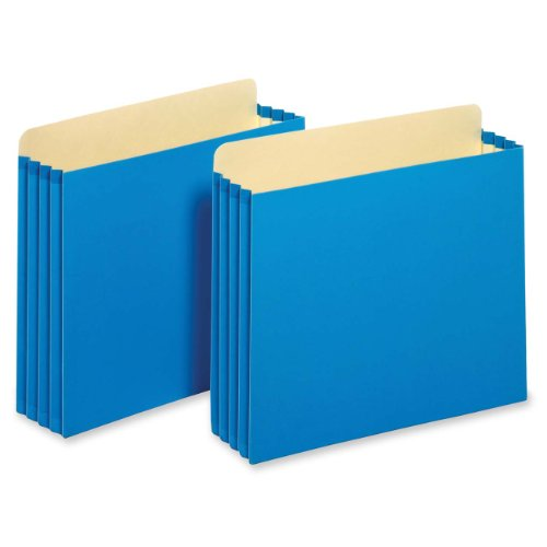 Tops Business Forms, Inc. Heavy Duty File Cabinet Pockets, 3.5-Inch Expansion, Letter Size, Blue, 10-Count (FC1524E BLU)