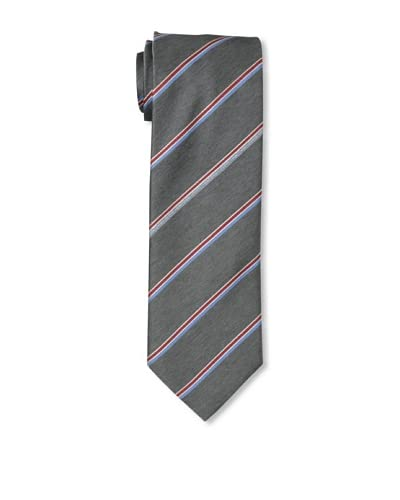Moschino Men's Striped Tie, Grey