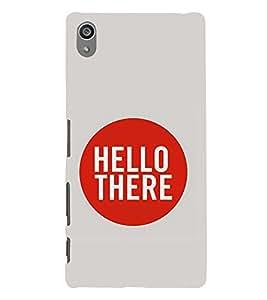 Hello 3D Hard Polycarbonate Designer Back Case Cover for Sony Xperia Z5 Premium (5.5 Inches) :: Sony Xperia Z5 Premium Dual