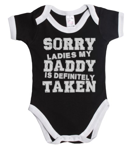 Sorry ladies my daddy is definitely taken funny baby boy/girl babygrow vest ~