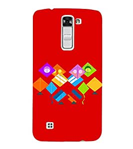 Colourful Kites 3D Hard Polycarbonate Designer Back Case Cover for LG K10 :: LG K10 Dual SIM :: LG K10 K420N K430DS K430DSF K430DSY