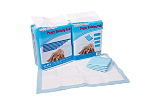 High Absorbent Large Puppy Training Pads Pack Of 150 Sheets 600MM X 450MM Plus Free Pack of Biodegradable Dog Waste Bags