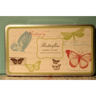 Butterfly Rubber Stamp Set By Cavallini & Co.