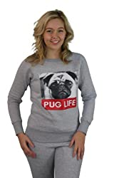 Girl Talk Pug Life Long Sleeve Sweater