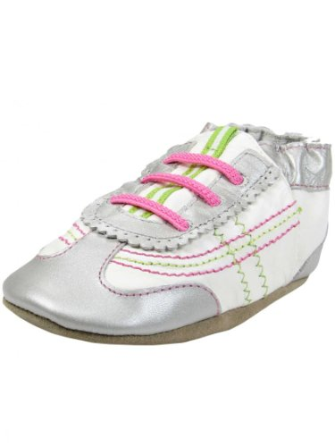 Robeez On The Run Soft Sole Slip-On (Infant),Silver,18-24 Months M Us Infant front-154552