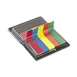 Flags in Dispenser, Five Colors, 75/Color, 375 Flags/Pack