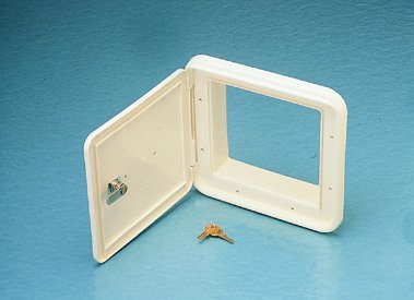 Bargman (6018001) Colonial White Gas Fill Door