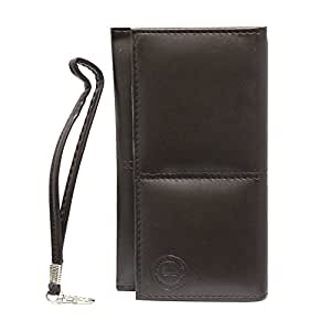 Jo Jo A5 G12 Leather Wallet Universal Pouch Cover Case For LG G5 Brown