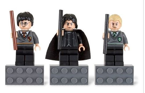 Lego Harry Potter Magnets: Harry, Severus Snape, Draco Malfoy