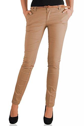 Danaest -  Pantaloni  - Chino - Basic - Donna beige W42