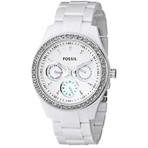 Fossil Stella White Dial Women's Quartz Watch - ES1967