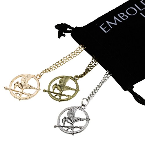 Charm Mocking Bird and Arrow Pendant Set Gold Bronze Silver in Long Sweater Chain Link Necklace (Teen Mom 2 Season 10 compare prices)