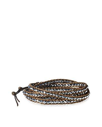 Chan Luu Ctd Silver/Kansa Wrap Bracelet