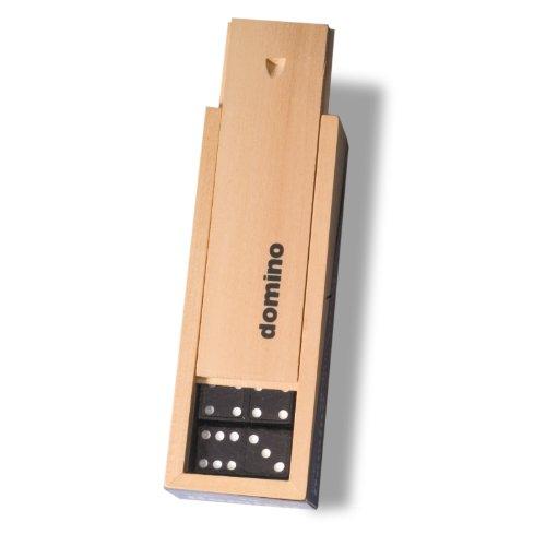 Noris Spiele 606104615 - Domino - Doppel 6 in Holzkiste